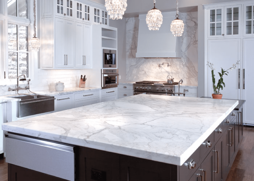 Honed Marble Countertops
