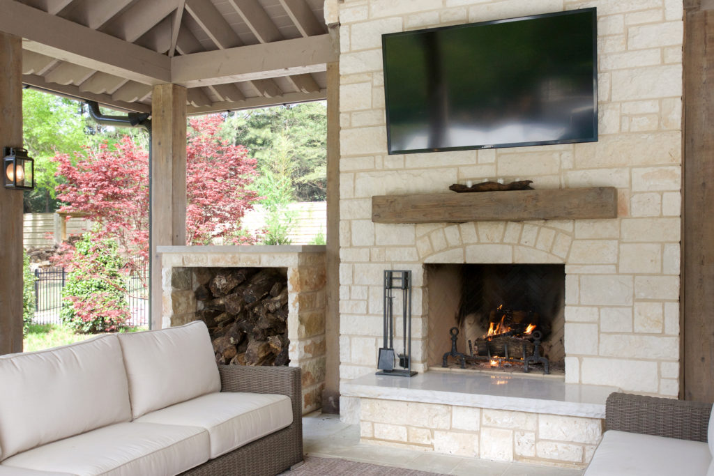 outdoor fireplace showroom buckhead atlanta florida bath and surfaces