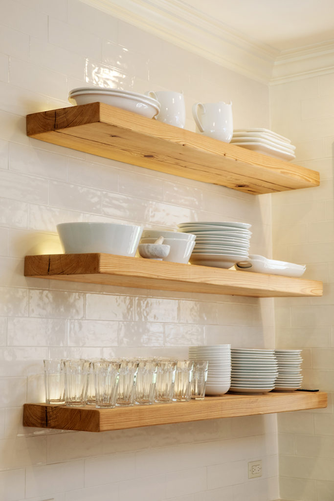 Exposed Floating Shelves